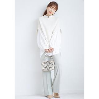 snidel - ♡即納♡シャツセットオーバーニットベスト