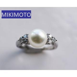 ミキモト(MIKIMOTO)の[最終価格]MIKIMOTO ミキモト パール×ダイアモンド Pt950 リング(リング(指輪))