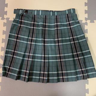 制服 夏スカート 緑系チェック W75 丈45cm