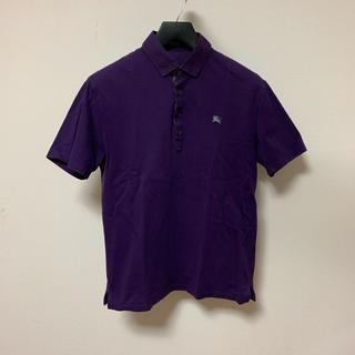 バーバリーブラックレーベル(BURBERRY BLACK LABEL)のバーバリー ブラック レーベル 半袖 ポロシャツ メンズ サイズ2 紫色 正規品(ポロシャツ)