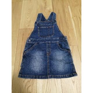 MUJI (無印良品) - 無印良品 MUJI デニム オーバーオール スカート 110 新品未使用