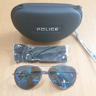 POLICE - police メンズ サングラス S8299 ブルー ミラーレンズ 新品