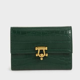 チャールズアンドキース(Charles and Keith)の財布 緑(財布)