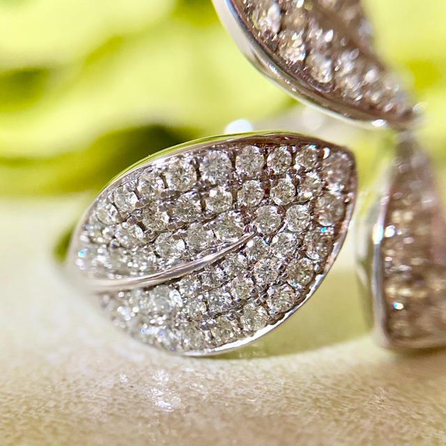 『かずん様専用です』天然ダイヤモンドリング トータル1.00ct 750 レディースのアクセサリー(リング(指輪))の商品写真