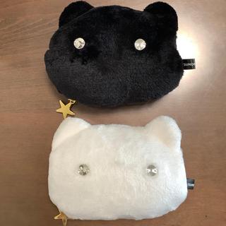 ツモリチサト(TSUMORI CHISATO)のツモリチサト ネコポーチ 黒白 2個セット(ポーチ)