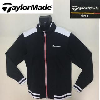テーラーメイド(TaylorMade)のテーラーメイド◆ジップアップ ジャージー素材 ジャケット ブラック Lサイズ (ウエア)
