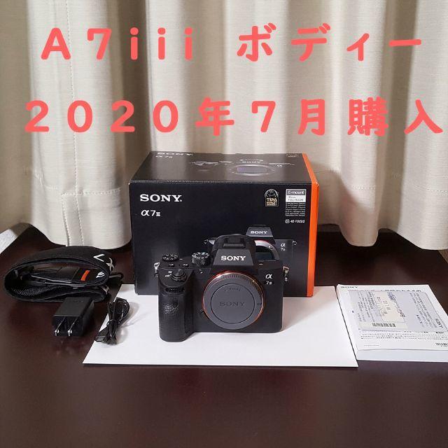 SONY(ソニー)の【美品】ソニー A7iii ボディー 2020年7月購入 スマホ/家電/カメラのカメラ(ミラーレス一眼)の商品写真