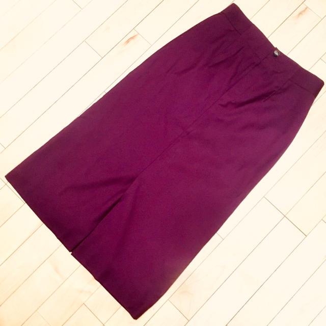 green label relaxing(グリーンレーベルリラクシング)の✴︎りりあん様専用✴︎   ボルドー タイトロングスカート レディースのスカート(ロングスカート)の商品写真