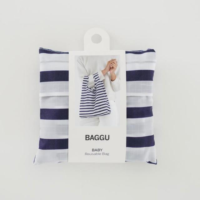 DEUXIEME CLASSE(ドゥーズィエムクラス)の【新品未使用】BAGGU バグー baby  セラー ストライプ レディースのバッグ(エコバッグ)の商品写真