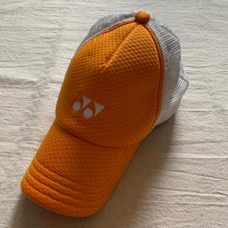 ヨネックス(YONEX)のヨネックス キャップ 帽子 オレンジ(ウェア)
