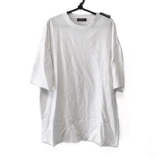 バレンシアガ(Balenciaga)のバレンシアガ 半袖Tシャツ メンズ - 白(Tシャツ/カットソー(半袖/袖なし))
