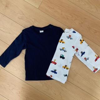 エイチアンドエム(H&M)のH&M 2枚セットベビーロンT(Tシャツ)