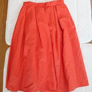 テチチ(Techichi)のテチチ オレンジ かわいい フレアスカート S(ロングスカート)