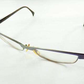 アランミクリ(alanmikli)のアランミクリ メガネ - ブルー×ネイビー(サングラス/メガネ)
