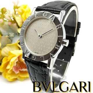 ブルガリ(BVLGARI)の良品 1ヶ月保証付 ブルガリ BB30SLD 革ベルト メンズ レディース時計(腕時計)