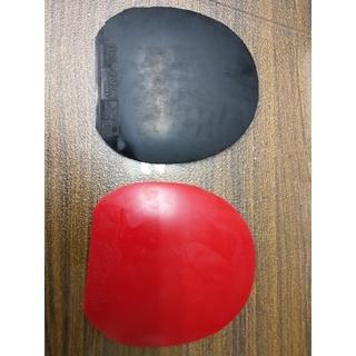 ニッタク(Nittaku)の卓球 ラバー 紅双喜 狂飈Ⅲ DHS ブルースポンジ  水星 赤(卓球)