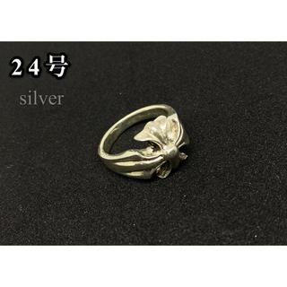 シルバー925リング クロス 十字架 百合 銀 指輪 silver925(リング(指輪))