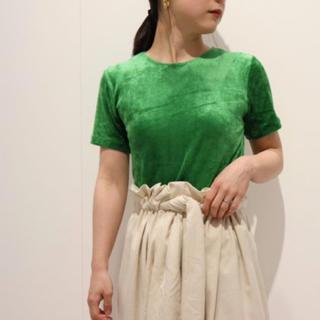 BEAUTY&YOUTH UNITED ARROWS - baserange  shiny velours green Sサイズ