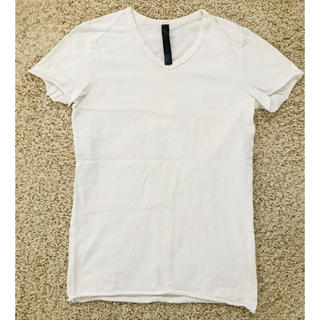 ダブルジェーケー(wjk)のwjk VネックTシャツ ホワイト(Tシャツ/カットソー(半袖/袖なし))