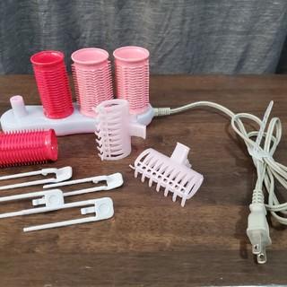 コイズミ(KOIZUMI)のヘアカーラーKHC-V400/P おまけつき 即購入可能(カーラー(マジック/スポンジ))