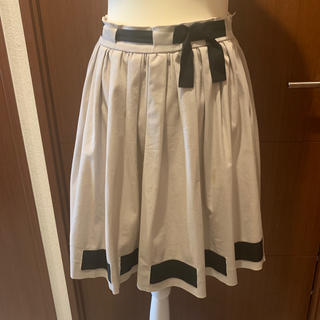 レッドヴァレンティノ(RED VALENTINO)のレッドバレンティノ リボンスカート 40(ひざ丈ワンピース)