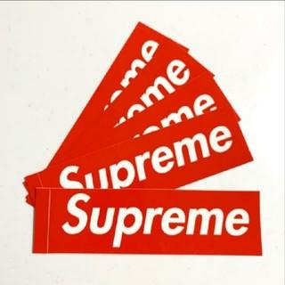 シュプリーム(Supreme)のSupreme Box Logo ステッカーシール レッド5枚セット(その他)