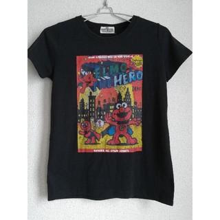 セサミストリート(SESAME STREET)の美品  セサミストリート 半袖Tシャツ 黒(Tシャツ(半袖/袖なし))