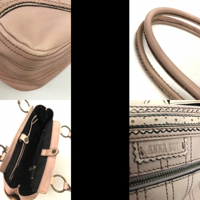 ANNA SUI(アナスイ)のアナスイ トートバッグ ピンク レザー レディースのバッグ(トートバッグ)の商品写真