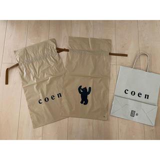 コーエン(coen)のcoen ショップ袋(紙+ビニル2枚)(ショップ袋)