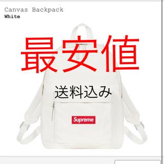 Supreme - supreme canvas backpack 白
