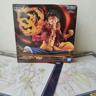 BANDAI - ワンピース 一番くじ A賞ルフィトレジャークルーズ フィギュア ビジュアル原画