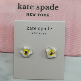 kate spade new york - 新品♠ケイトスペード パンジー ピアス