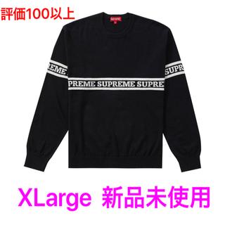 シュプリーム(Supreme)の定価以下! Supreme Logo Stripe Knit 黒 Sweater(ニット/セーター)