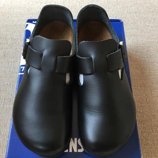 ビルケンシュトック(BIRKENSTOCK)のBIRKENSTOCK ビルケンシュトック  ロンドン レザー 38 ブラック(ローファー/革靴)