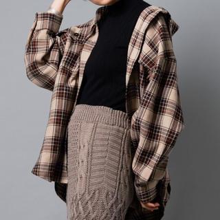 アントマリーズ(Aunt Marie's)のチェックCPOビッグシャツ(シャツ/ブラウス(長袖/七分))