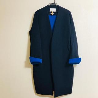 ENFOLD - ウールリバーノーカラー コート