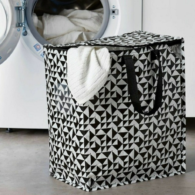 IKEA(イケア)の便利*秋の新作☆イケア新品IKEA クナラ バッグ 収納  トートバッグ♪大容量 インテリア/住まい/日用品の収納家具(ケース/ボックス)の商品写真