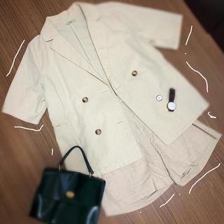 ミスティック(mystic)のmystic セットアップ ジャケット ショートパンツ オフホワイト(テーラードジャケット)