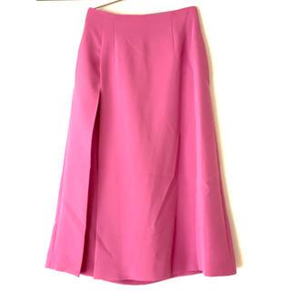 ルシェルブルー(LE CIEL BLEU)のルシェルブルーサイドタックAラインスカート一度着用のみクリーニング済美品(ロングスカート)