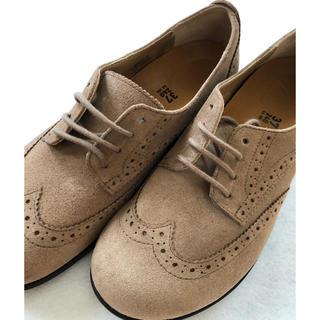 ビルケンシュトック(BIRKENSTOCK)のビルケンシュトック ララミーロー スエードレザートープ サイズ 37 ベージュ(ローファー/革靴)