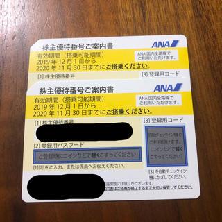 ANA株主優待券2枚