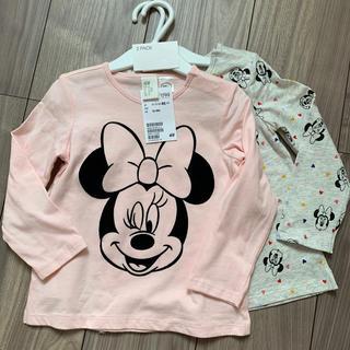 エイチアンドエム(H&M)のミニーちゃん長袖ロンT 80 85 H&M 2枚セット 女の子 12-18M(Tシャツ)