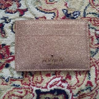 kate spade new york - 新品未使用 kate spadeピンクシャンパンゴールド カードケース