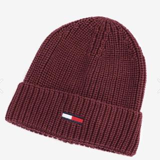 トミーヒルフィガー(TOMMY HILFIGER)のトミージーンズ ニット帽 ニットキャップ 赤(ニット帽/ビーニー)