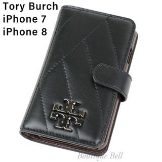 Tory Burch - 【Tory Burch】トリーバーチ レザーiPhone7/8手帳型ケース BK