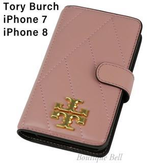 Tory Burch - 【Tory Burch】トリーバーチ レザーiPhone7/8手帳型ケース PK