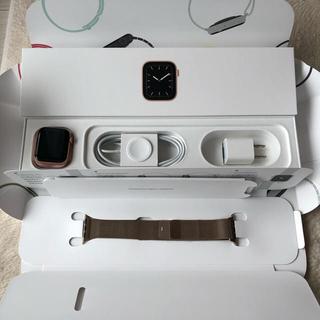 アップルウォッチ(Apple Watch)の【tomo様専用】アップルウォッチ5 40mm ゴールドミラネーゼループ(腕時計(デジタル))
