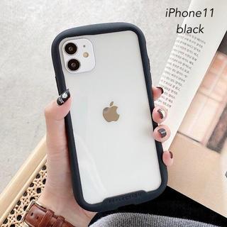 iPhone11 iPhoneケース クリアケース 透明 ブラック