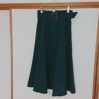 テチチ(Techichi)の秋冬に取り入れたい深い緑コーデ【テチチ】ベルト付き上品ミモレスカート(ロングスカート)
