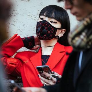 MARINE SERRE  Air Mask Black Printマリーンセル(その他)